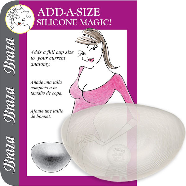Braza - SILICONE ADD A SIZE, push-up výstuž (7400-26)