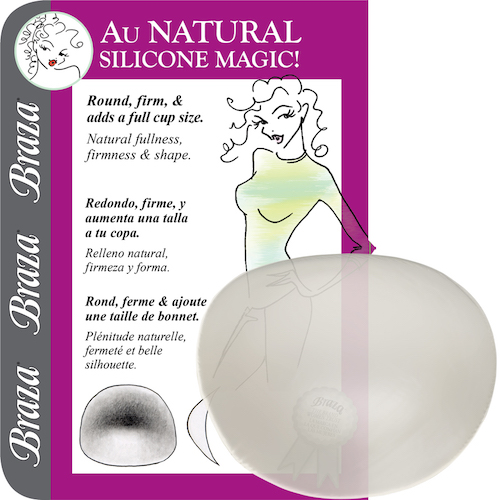 Braza - SILICONE AU NATURAL, push-up výstuž (7450-26)