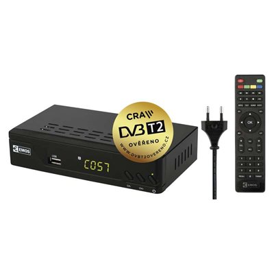 Set top box EMOS EM170 HD (DVB-T2 prijímač)